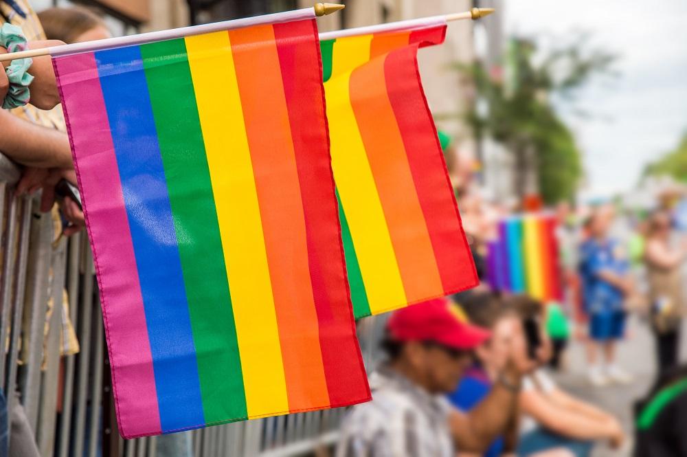 Rainbow colored flag