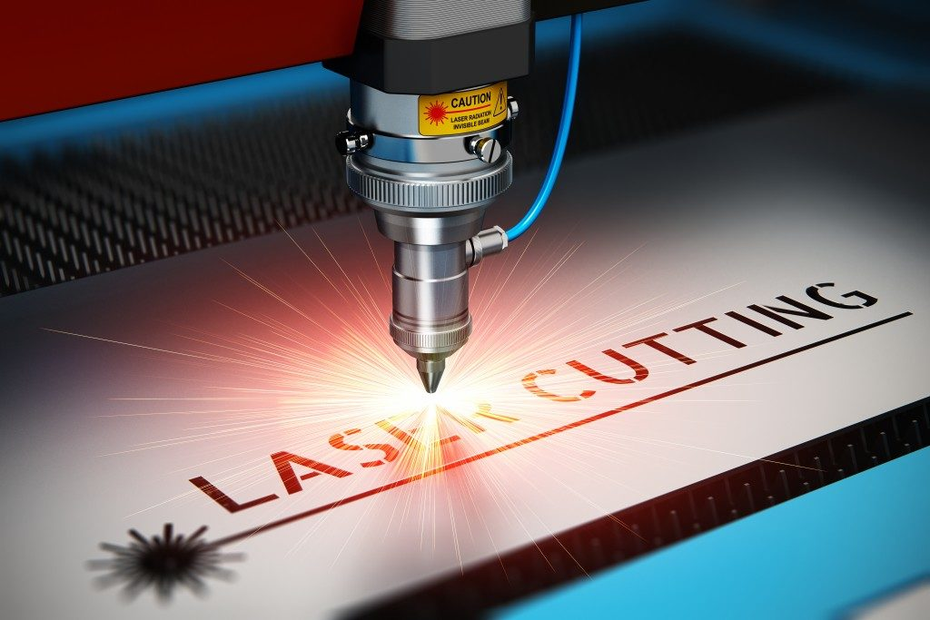 Laser cutting industry concept