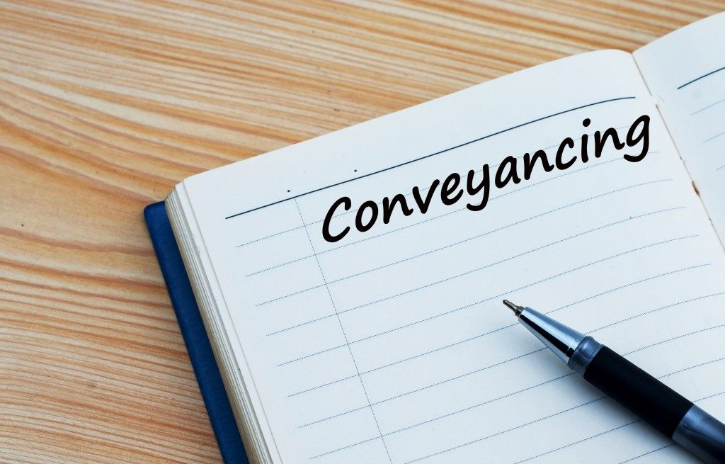 conveyancing written on diary
