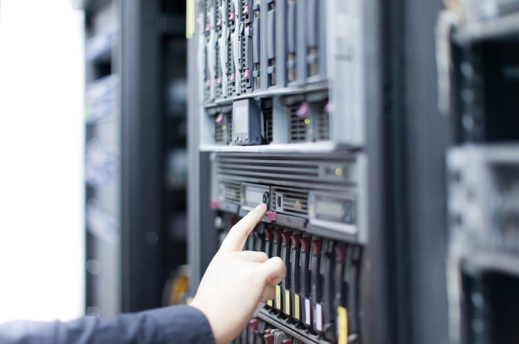 Network server in data center