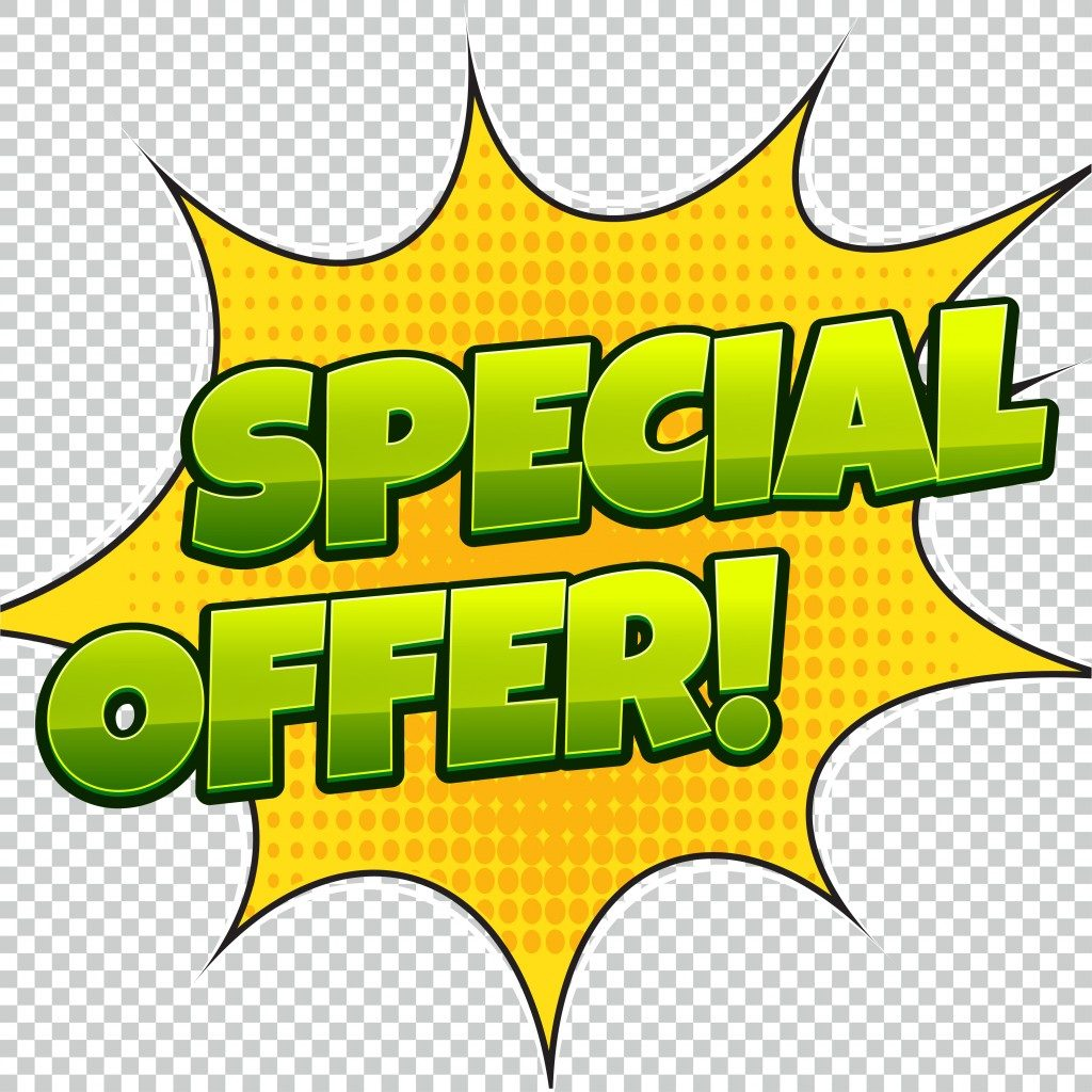 special offer announcement