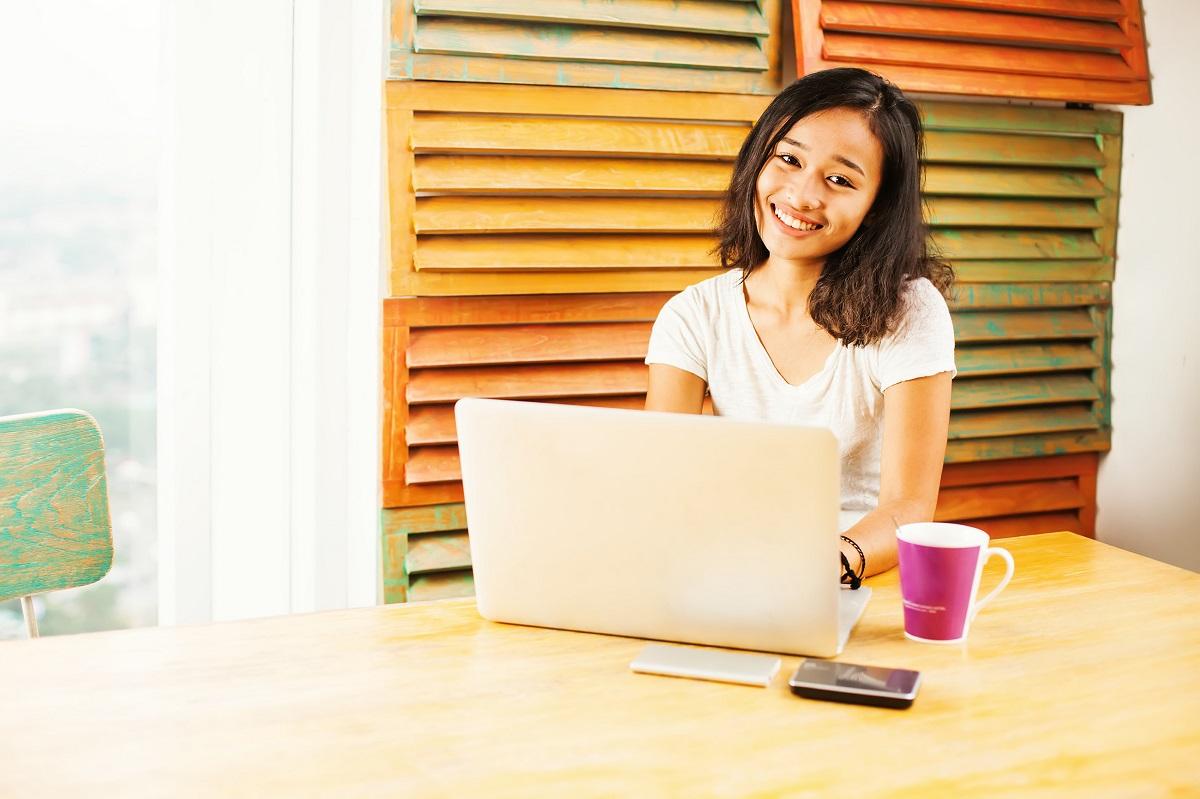 during an online class